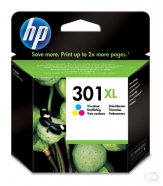 HP 301XL originele ink cartridge drie kleuren high capacity 330 pagina s 1-pack Blister multi tag